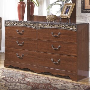 Fairbrooks Estate 6 Drawer Double Dresser by Signature Design by Ashley