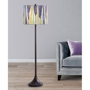 Purple shade floor lamps youll love wayfair save aloadofball Gallery