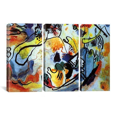 Wrought Studio 'The Last Judgment' by Wassily Kandinsky 3 Piece Painting Print on Wrapped Canvas Set Size: 40 H x 60 W x 1.5 D
