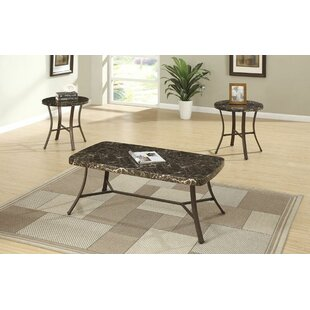 Hett Faux Marble Top 3 Piece Coffee Table Set Of