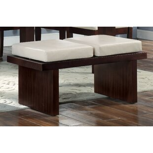 Harker Faux Leather Bench