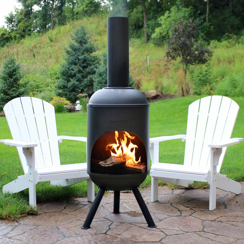 Darby Home Co Raymon Outdoor Steel Wood Burning Chiminea Reviews Wayfair