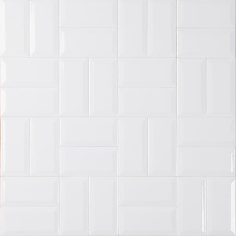 Msi Glossy Beveled 3 X 6 Ceramic Subway Tile In White Reviews