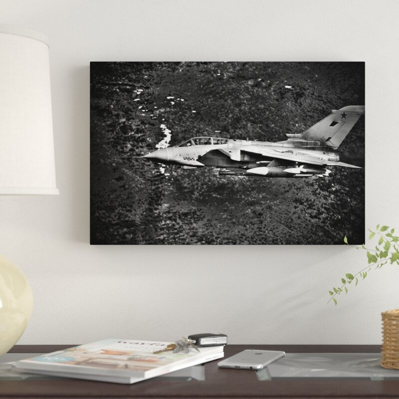 33de334ee East Urban Home 'A Royal Air Force Tornado GR4 During Low Fly Training in  North Wales I' Graphic Art Print on Canvas | Wayfair