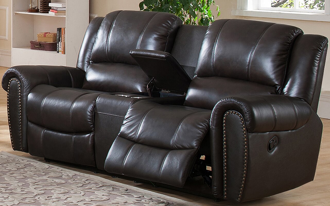 Charlotte Leather Reclining Sofa & Amax Charlotte Leather Reclining Sofa u0026 Reviews | Wayfair islam-shia.org