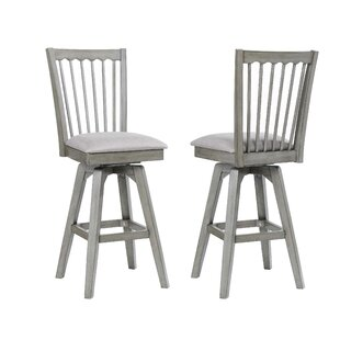 Vergara Spindle Back 28 Swivel Bar Stool (Set of 2)