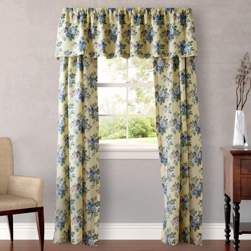 Laura Ashley Home Linley Nature/Floral Semi-Sheer Rod