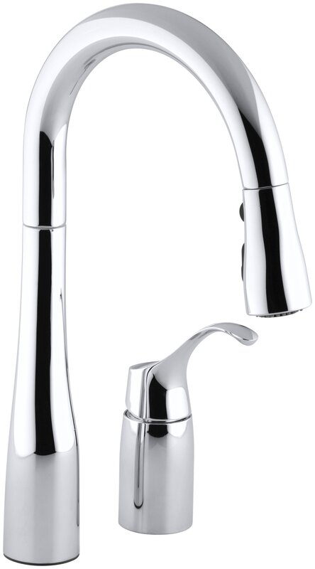 K-649-BL,CP,VS Kohler Simplice Two-Hole Kitchen Sink Faucet with 14 ...
