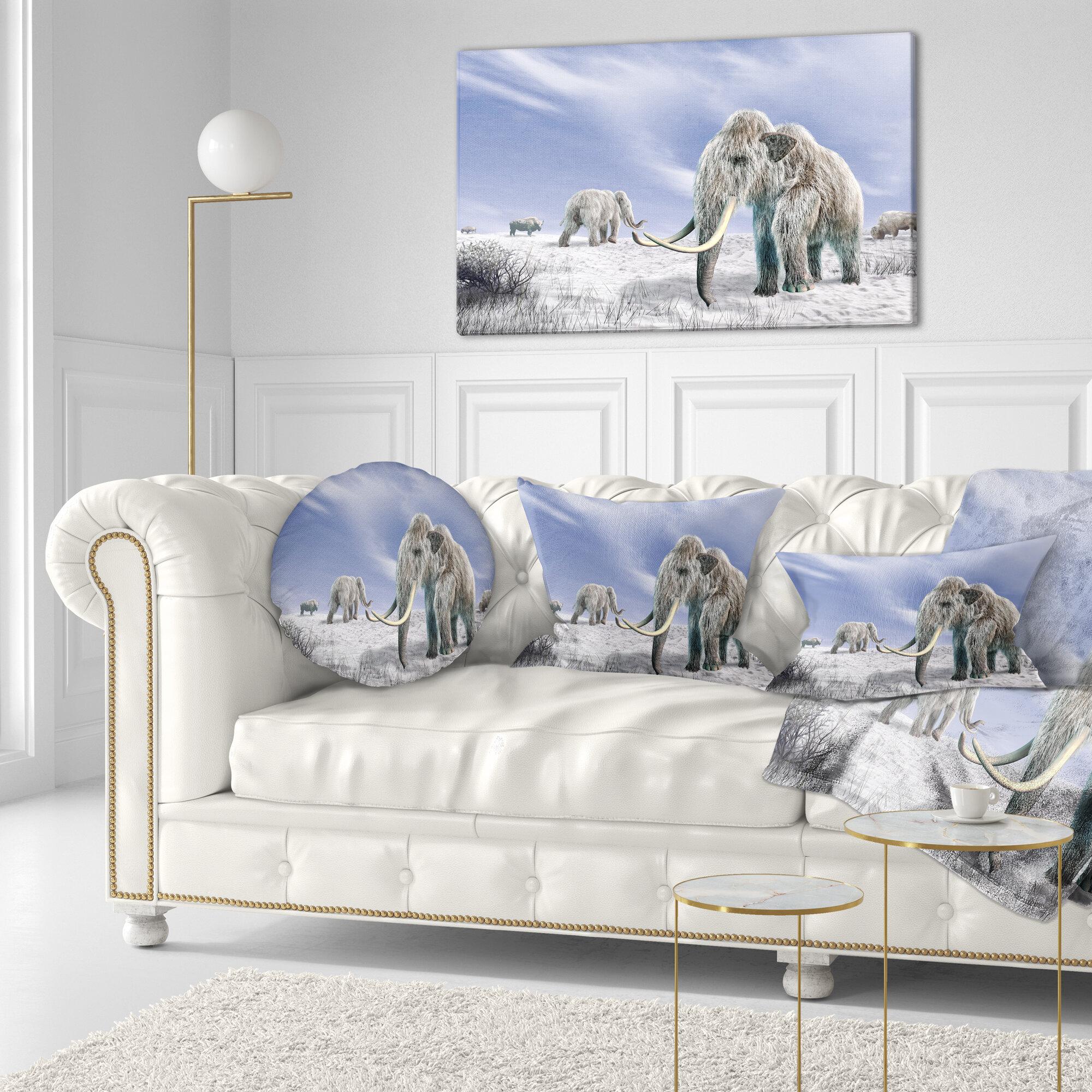 East Urban Home Designart \'Mammoth Elephants & Reviews   Wayfair