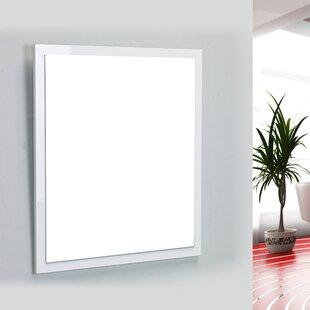White Framed Bathroom Mirror | Wayfair.ca on dark frame bathroom mirrors, white framed mirror 18 x 30, white decorative bathroom mirrors, white mirror with ledge, white painted mirror in bathroom, white square bathroom mirror, white framed bathroom mirrors,