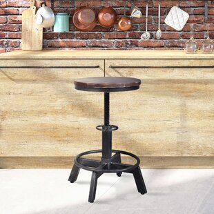 Anglo Backless Metal Adjustable Height Bar Stool - set of 2 (Set of 2)