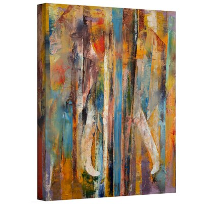 Ebern Designs 'Elephant' Painting on Wrapped Canvas Print Size: 18 H x 14 W