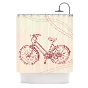 New Bicycle Shower Curtain | Wayfair RC57