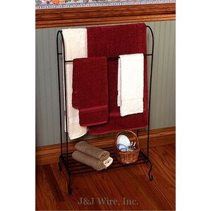Quilt Rack with Shelf by J & J Wire