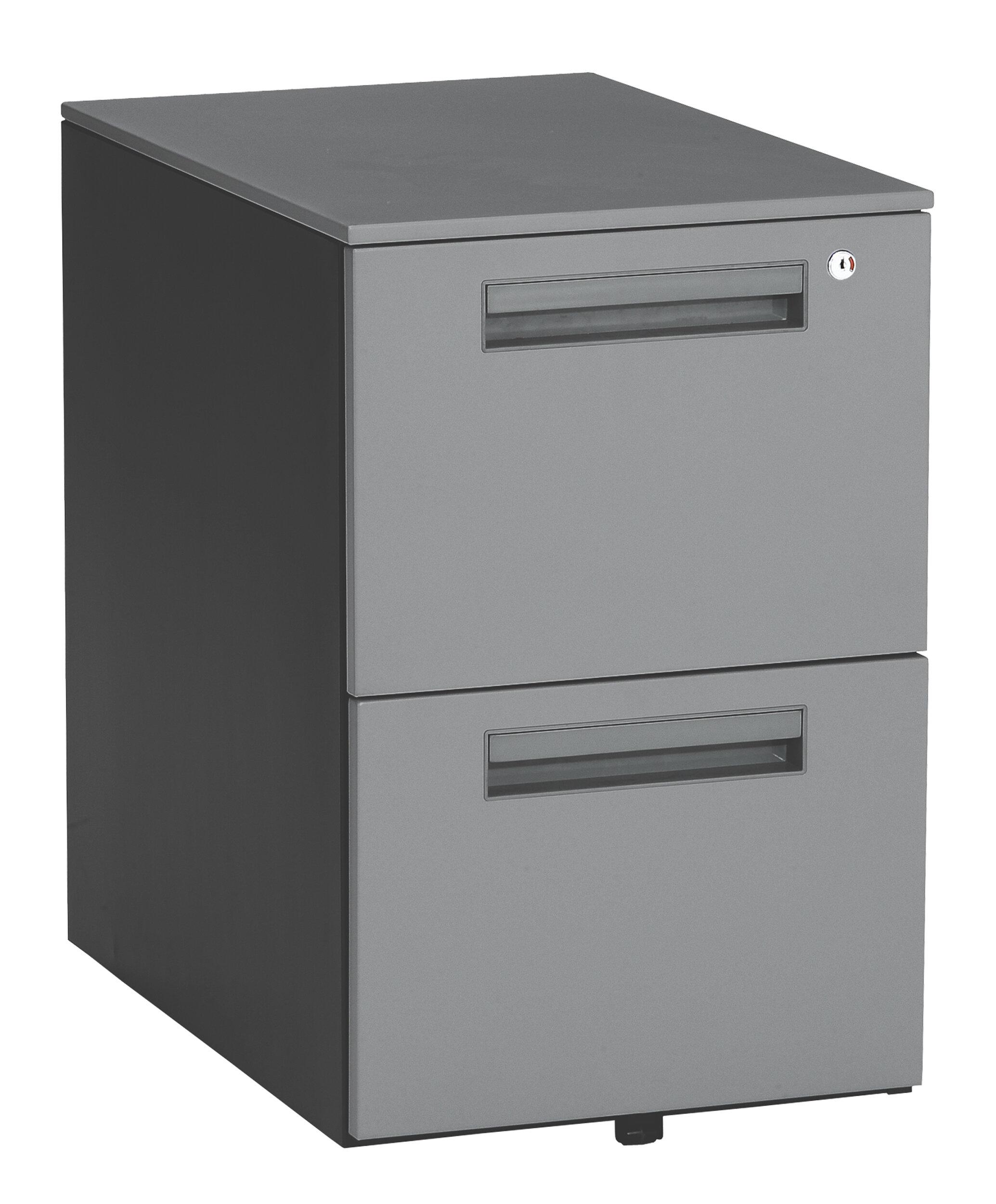 Ofm Executive Series 2 Drawer Mobile Vertical Filing Cabinet Reviews Wayfair