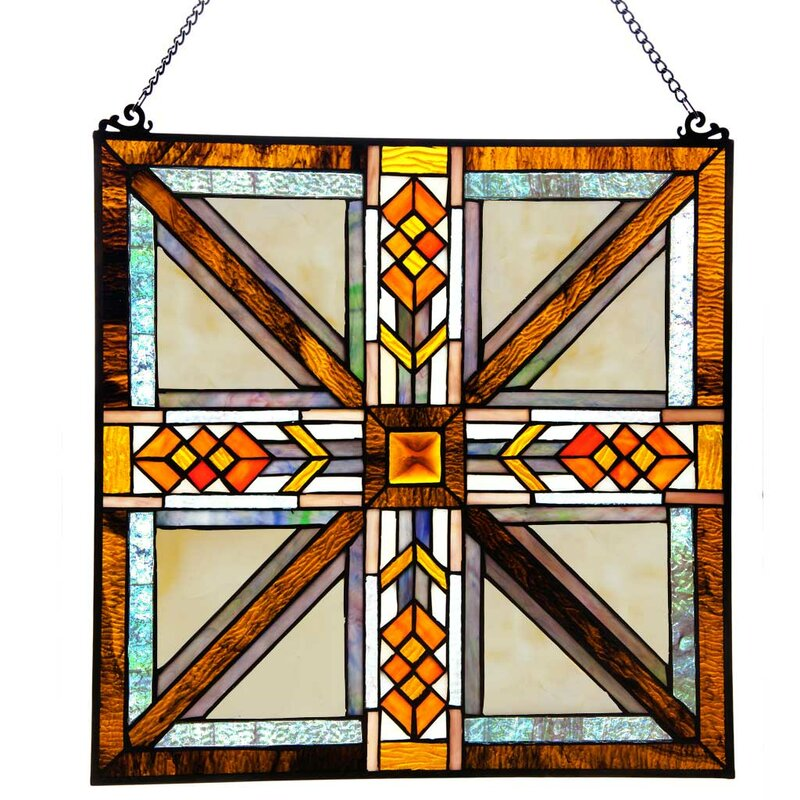 Square Shaped Stained Glass Panels You\'ll Love | Wayfair