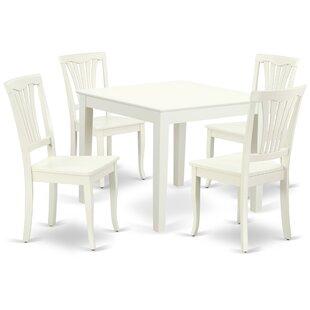 Kropf 5 Piece Solid Wood Dining Set