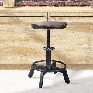 Brickey Adjustable Height Swivel Bar Stool