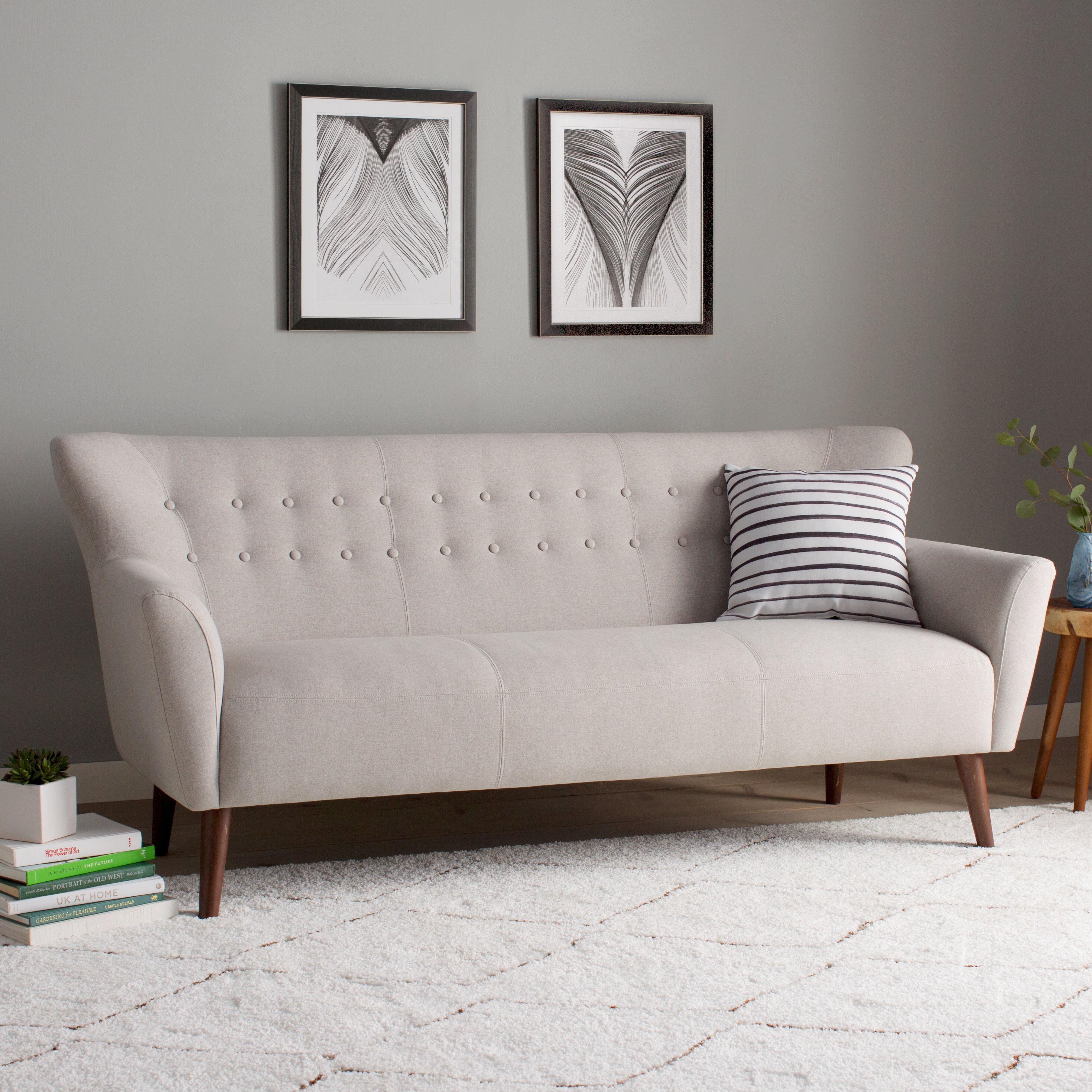 Langley street gabrielle mid century modern sofa reviews wayfair