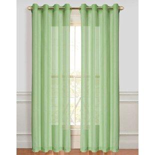 Dark Green Sheer Curtains