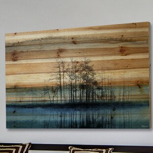 Bon U0027Tree Isle Reflectsu0027 By Parvez Taj Painting Print On Natural Pine Wood