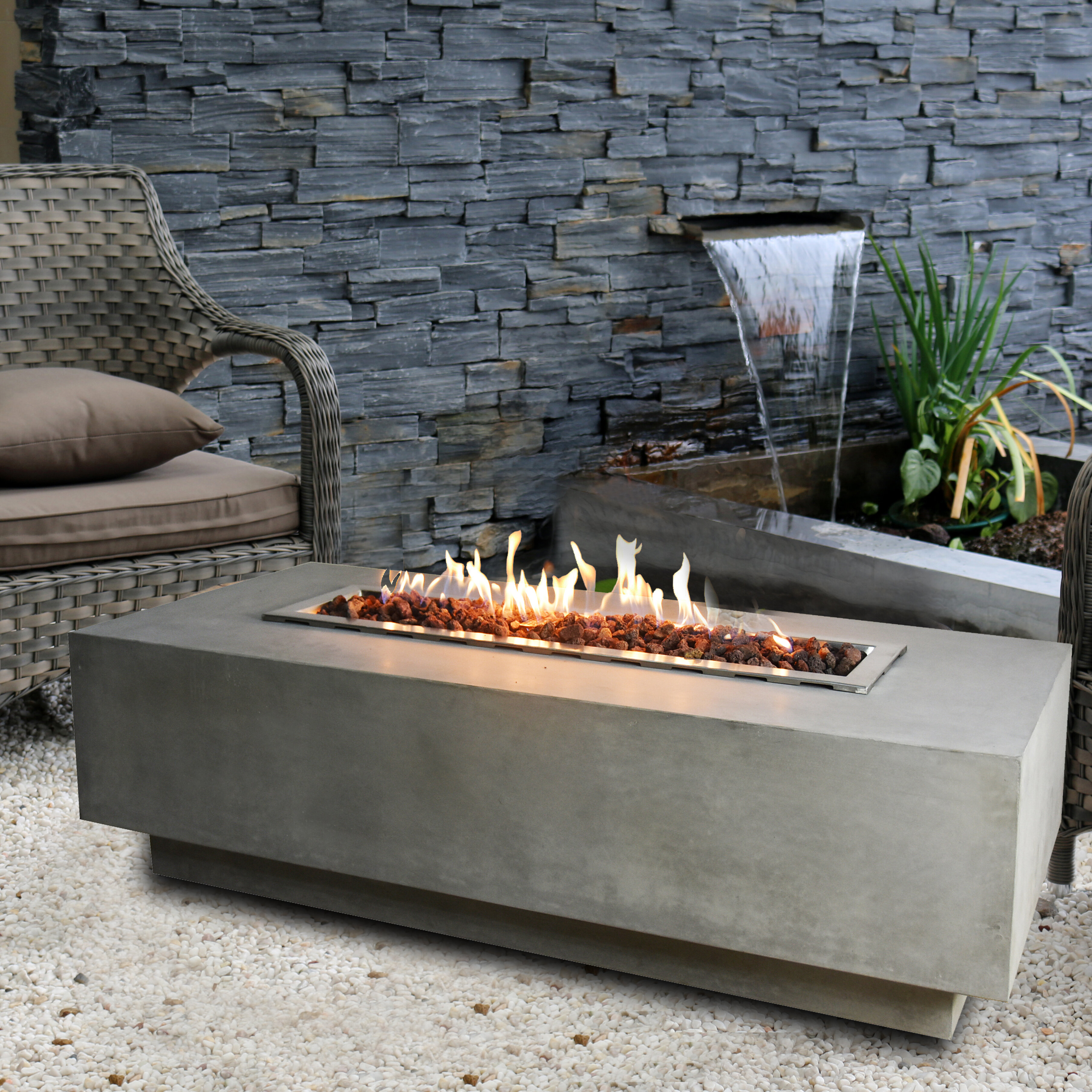 Elementi granville concrete gas fire pit table wayfair