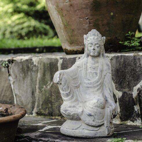 Volcanic Ash Imperial Quan Yin Statue