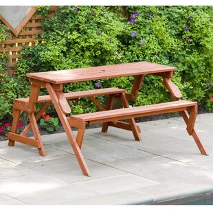 Andres Solid Wood Picnic Table