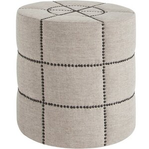 Beacon I Round Ottoman by Inspired D?cor and Interiors