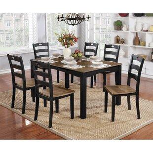 Beau Hoyle Transitional 7 Piece Dining Table Set