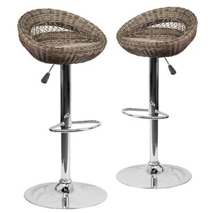 Taniya Adjustable Height Swivel Bar Stool (Set of 2)