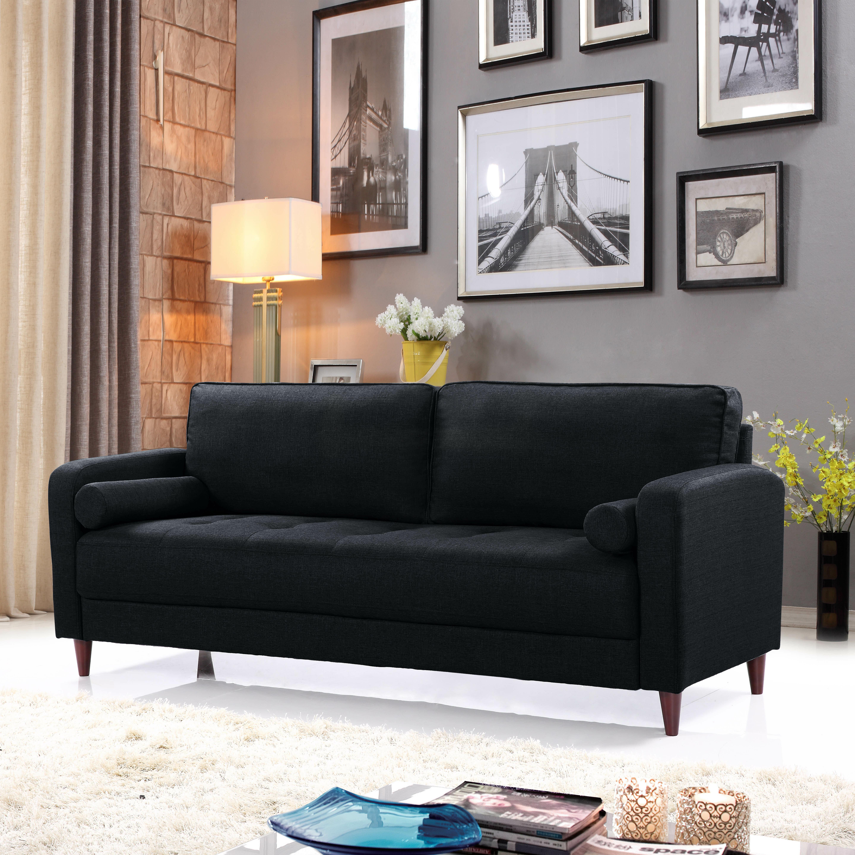 Gentil Mid Century Modern Linen Fabric Living Room Sofa