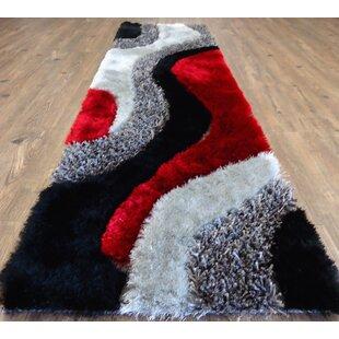 Red Black White Swirl Rug Wayfair