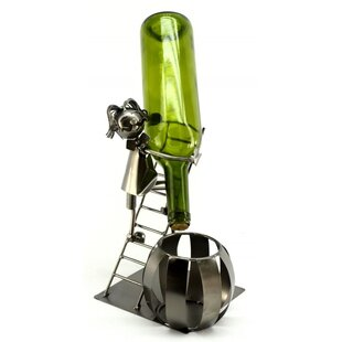 Man on Ladder 1 Bottle Tabletop Wine Rack