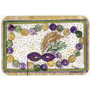 Mardi Gras Beads Kitchen/Bath Mat