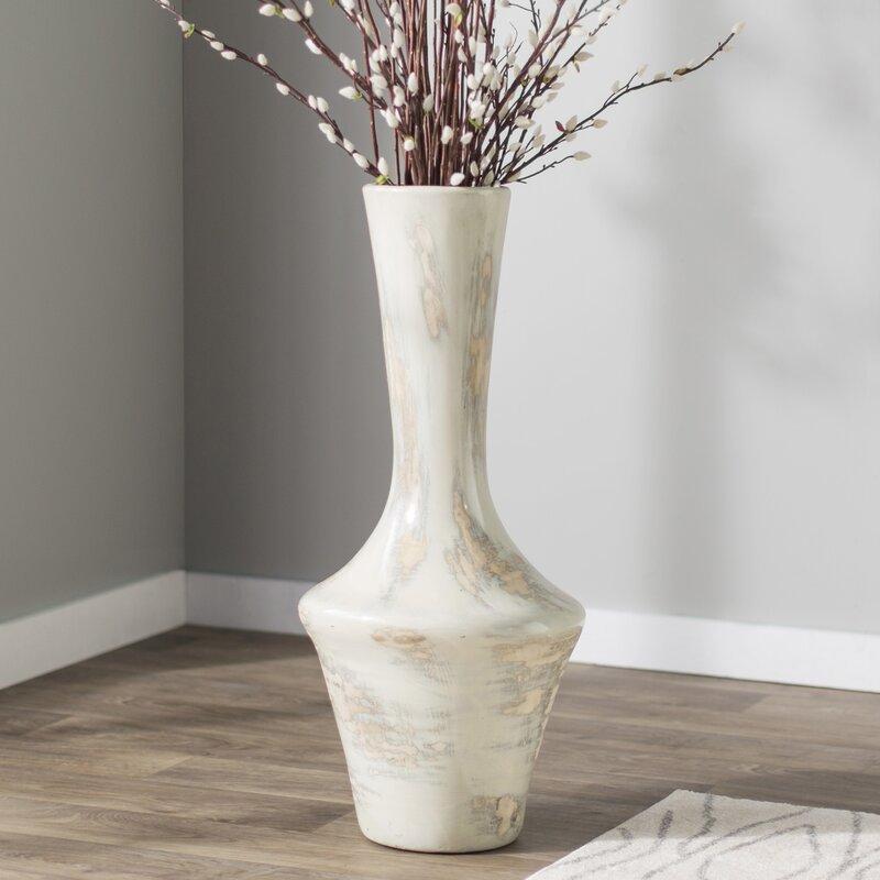 Gray Mexican Pottery Floor Vase