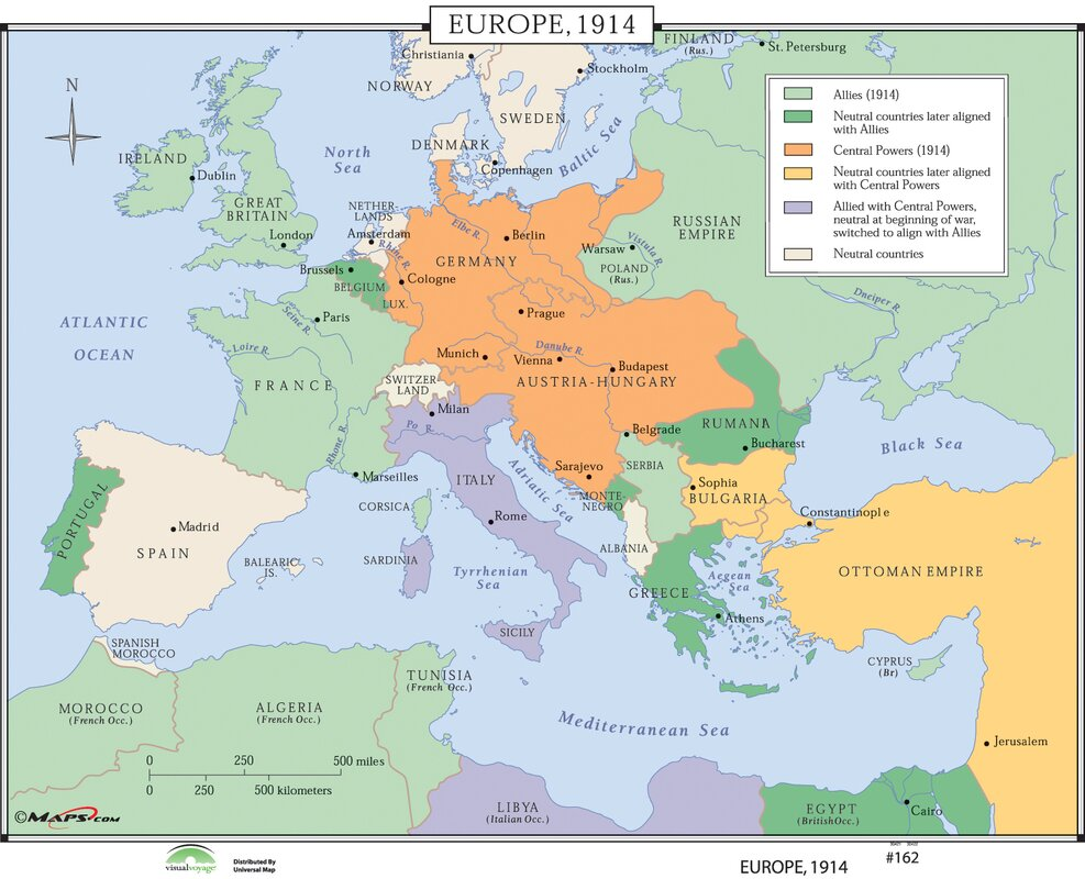 Universal map world history wall maps europe 1914 reviews world history wall maps europe 1914 gumiabroncs Image collections