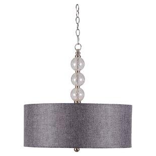 Drum pendant lighting modern contemporary designs allmodern gaetan 3 light led drum pendant mozeypictures Gallery