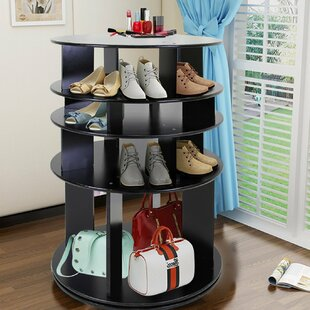 6abf6803f62 360° Rotating Entryway 35 Pair Shoe Rack