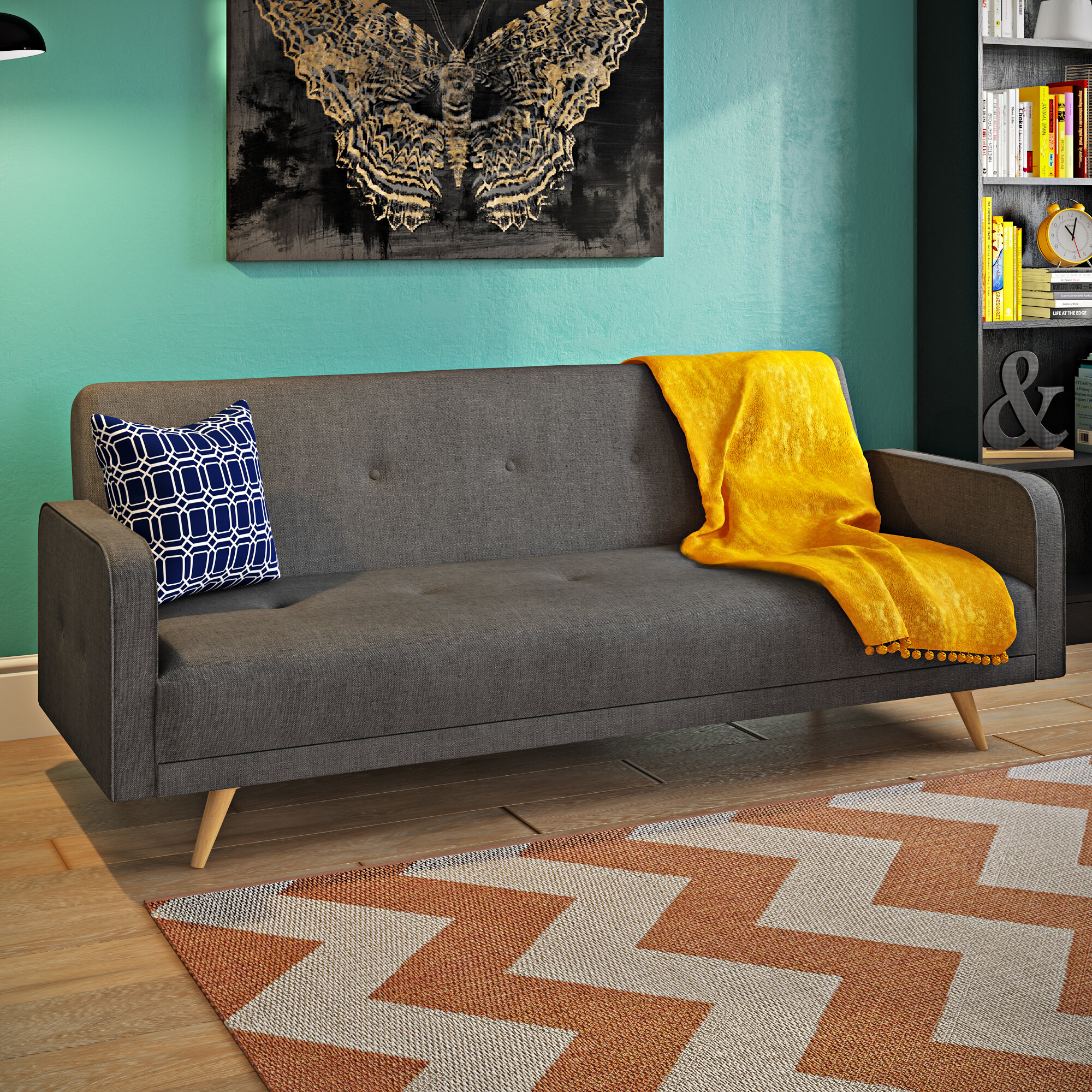 Mercury Row Patro 3 Seater Clic Clac Sofa Bed & Reviews
