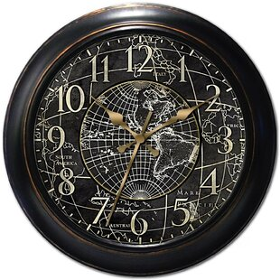 Buy World Map Clock. 18  World Map Wall Clock Wayfair