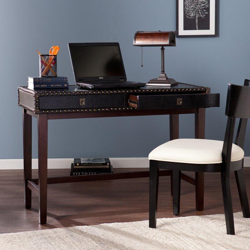 Jaya Faux Leather Writing Desk