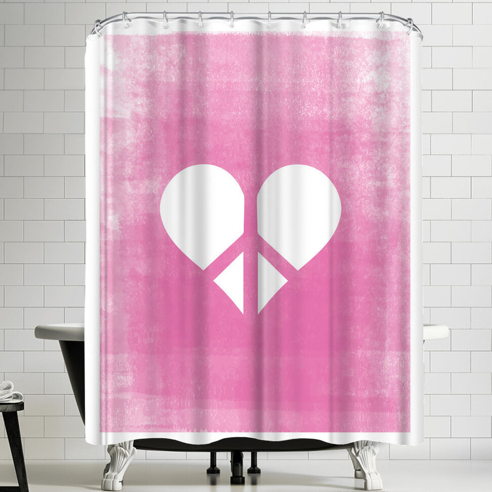 Superieur East Urban Home Ashlee Rae Love U0026 Peace Shower Curtain | Wayfair