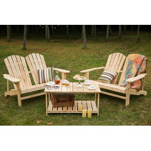 Superieur Ogrady 3 Piece Double Adirondack Chair And Table Set