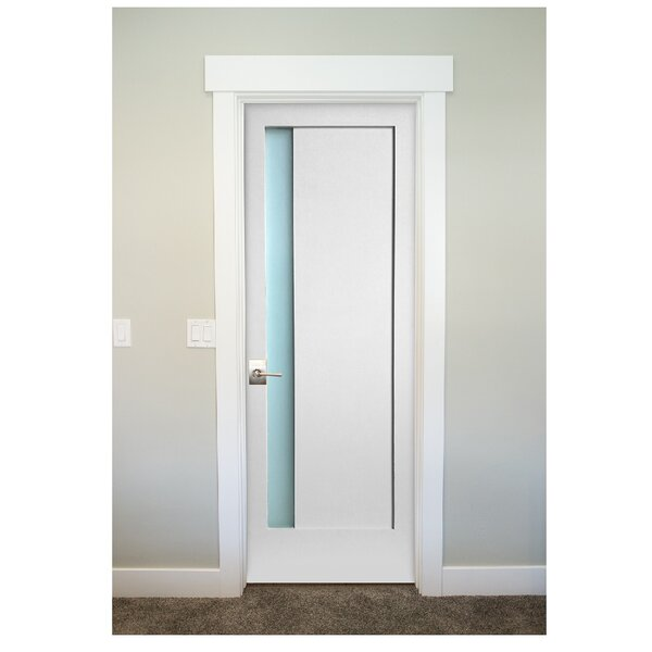 Perfect StileDoors 1 Lite Narrow Satin Etch Solid Manufactured Wood Glass MDF Prehung  Interior Door   Wayfair
