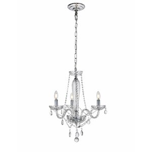 Osterley 3-Light Candle-Style Chandelier