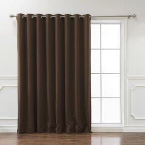 Scarsdale Extra Solid Blackout Thermal Grommet Single Curtain Panel Part 58