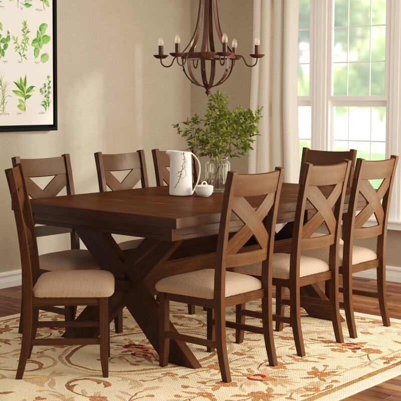 Modern Dining Room Sets: Laurel Foundry Modern Farmhouse Isabell 9 Piece Dining Set