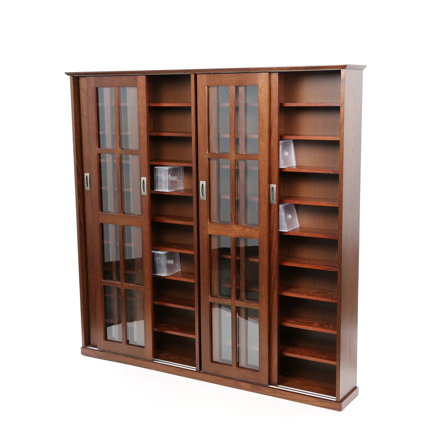walnut multimedia storage furniture you