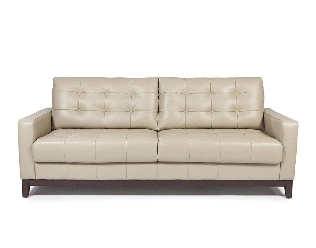 Erdman Taupe Leather Sofa